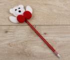 Ручка новогодняя мишка