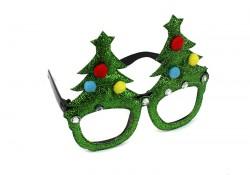 Новогодние очки с присыпкой Елки