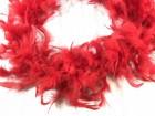 Боа перьевое красное