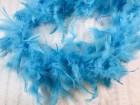 Боа перьевое голубое