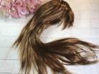 Парик коричневый ровный