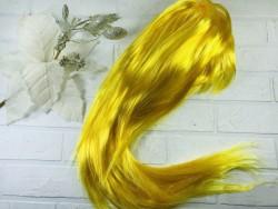 Парик желтый ровный
