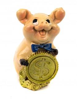 Символ года статуэтка Свинка с монетой