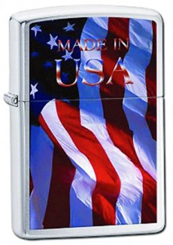 Зажигалка ZIPPO 200 MADE IN USA FLAG 24797