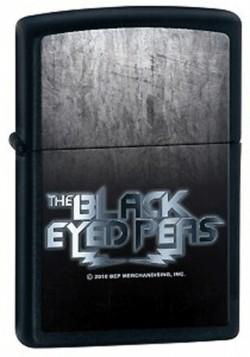 Зажигалка 218 BLACK EYED PEAS черная 28027