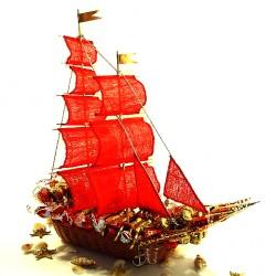 Букет из конфет Алые паруса