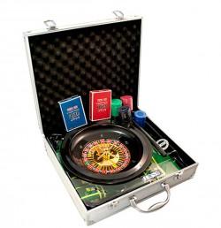 Покерный набор + рулетка в металлическом кейсе RS1060A
