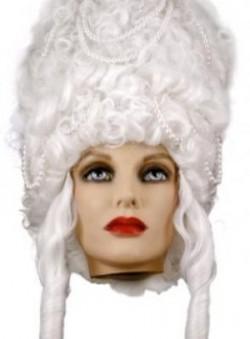 Парик Мадам Помпадур белый