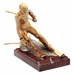 Бронзовая скульптура Горнолыжник (Gold)