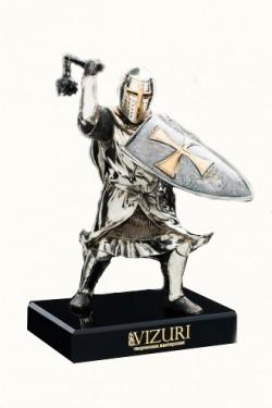Бронзовая фигурка Тевтонский рыцарь со щитом