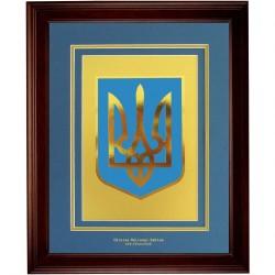 Герб Украины в рамке
