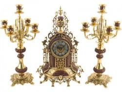 Интерьерные часы с подсвечниками Герцог Альба