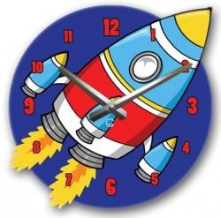 """Детские настенные часы """"Ракета"""" C-068"""