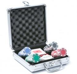 Набор для игры в покер в алюминиевом кейсе АК 100