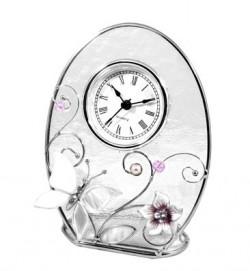 Часы Зеркальная бабочка со звоночками