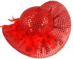 Шляпа с блестками и пером, 2 цвета