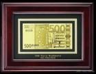 Банкнота 500 EURO в деревянной рамке