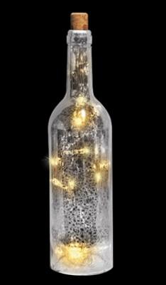 Бутылка серебристая