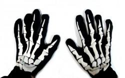 Перчатки Скелета тканевые