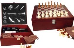 Винный набор с шахматами CrisMa 84029