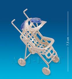 Фигурка Детская коляска посеребр.