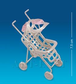Фигурка Детская колясочка посеребр.