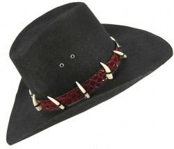 Шляпа ковбойская с клыками, взрослая