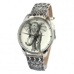 Часы арт Слон орнамент