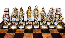 Шахматы Бой римлян с варварами (big size)