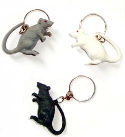 Брелок Мышь резиновая