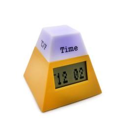 Часы с термометром и календарем