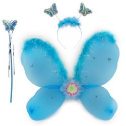 Набор Бабочки с пухом голубой