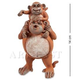 Символ года Обезьяны (папа с ребенком)