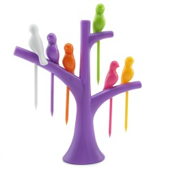 Шпажки для канапе Птички на дереве