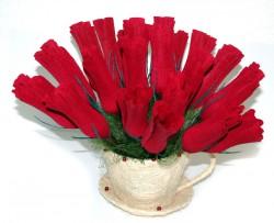 Букет из конфет Розы в бутоне