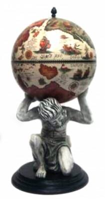 Глобус бар напольный Atlas цвет слоновой кости 42016B-WW
