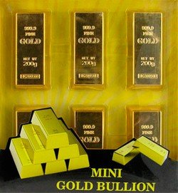 Слиток золота - набор магнитов