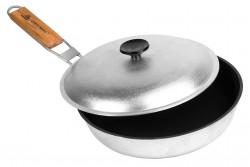 Сковорода походная с ручкой, 24 см, с антипригарным покрытием, БС24