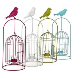 Декор для сада Подсвечник-клетка для птиц