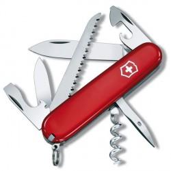 Нож Victorinox Swiss Army Camper, прозрачно-красный