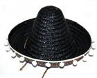 Шляпа Сомбреро с кисточками детская черная