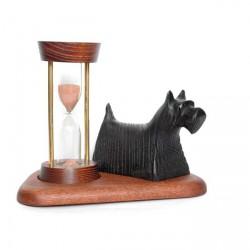 """Песочные часы со скульптурой Собака """"Клякса"""""""