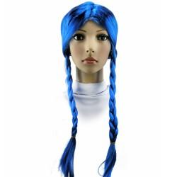 Парик Две косы (синий)