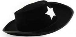 Шляпа шерифа детская (черная)