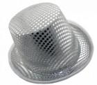 Шляпа Цилиндр блестящая (белая)