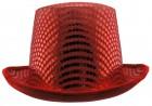 Шляпа Цилиндр блестящая (красный)