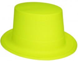 Шляпа цилиндр пластик флок (желтая)