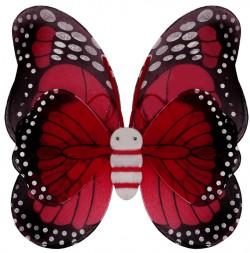 Крылья Бабочки пятнистые красные