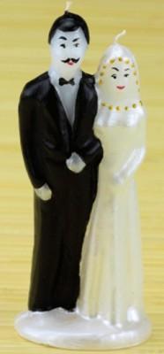 Свеча свадебная жених и невеста сладкая парочка