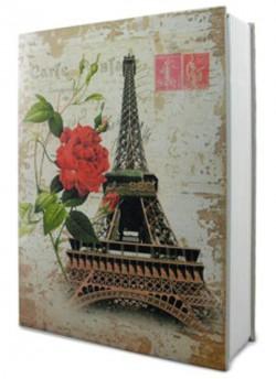 Книга сейф с кодом Париж средняя